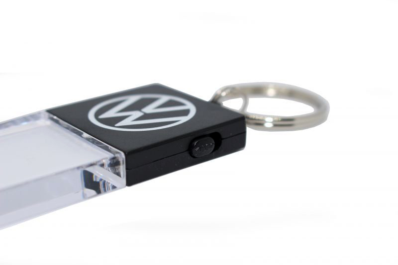 VW LED キーホルダー・ネオンホワイト VOLKSWAGEN