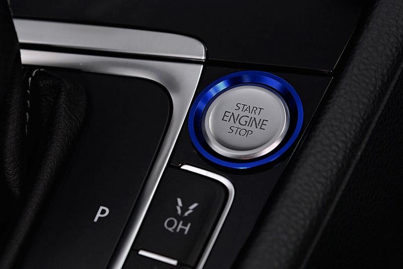 GOLF7系 エンジン スタートストップ ボタン リングトリム・ブルー core OBJ select