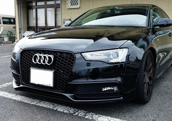 Audi A5 RSスタイル フロントグリル・ブラックフレーム