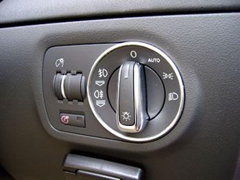 Audi アルミ ヘッドライトスイッチリング