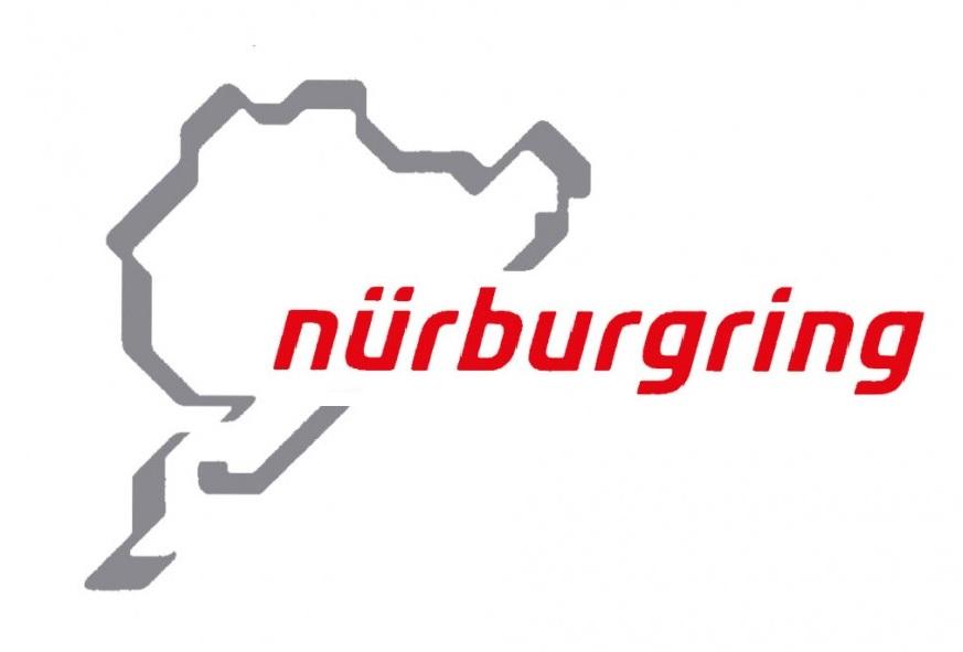 Nurburgring(ニュルブルクリンク) ステッカー・グレー/レッド 12cm