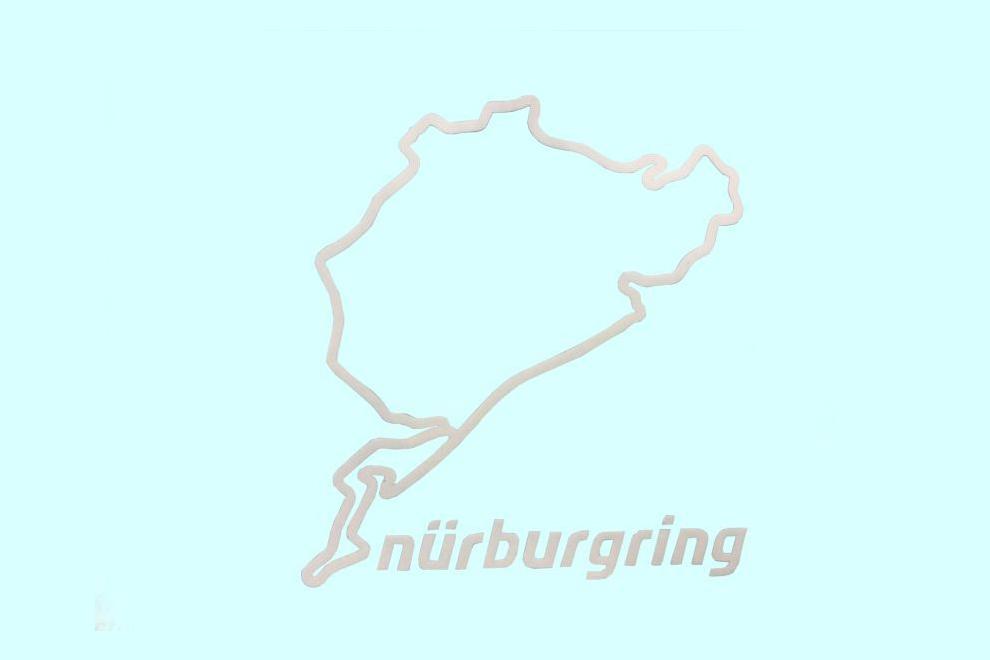 Nurburgring(ニュルブルクリンク) ステッカー・ホワイト 8cm