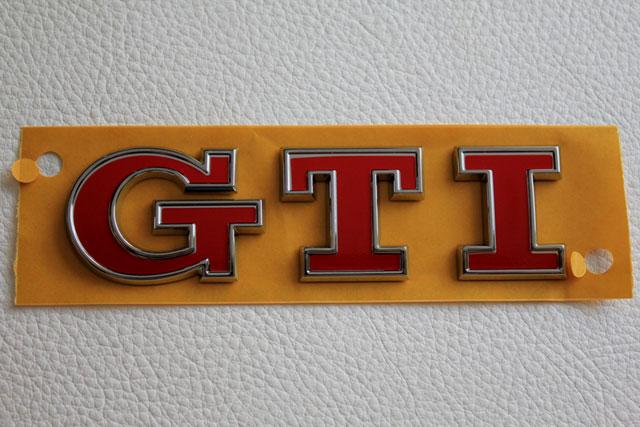GOLF7 GTI パフォーマンス リアエンブレム