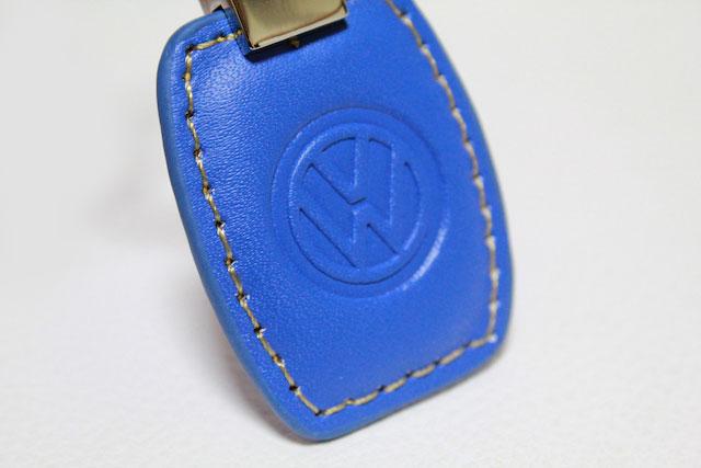 US VW レザーキータグ・ブルー