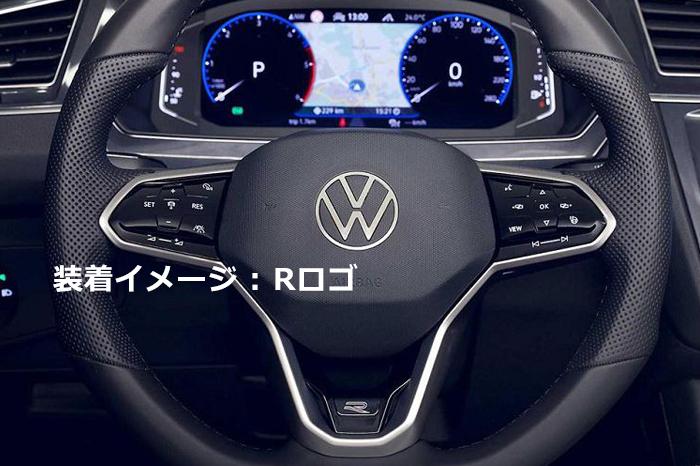 VW純正 T-CROSS 4MOTION ステアリングバッジ