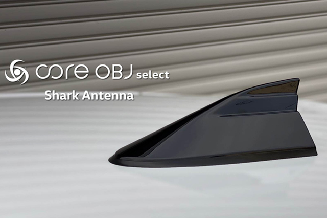VW T-CROSS/POLO/up! シャークアンテナ・ピアノブラック (core OBJ)