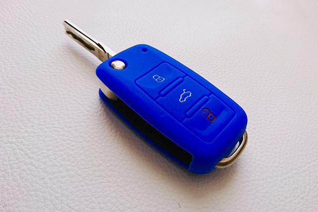 VW シリコンキーカバー・ブルー Type-B