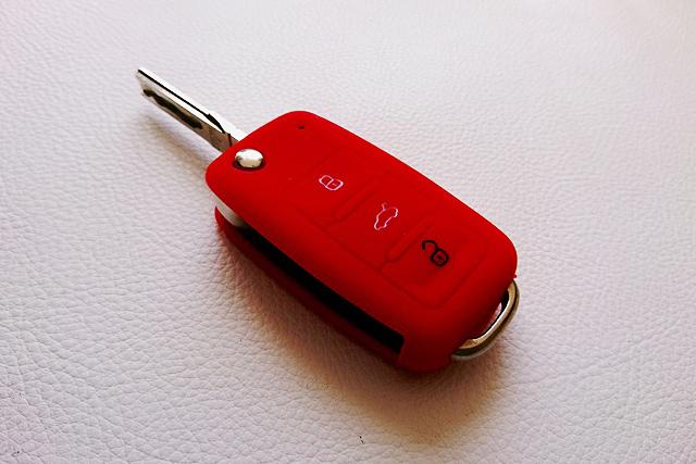 VW シリコン キーカバー・レッド Type-B