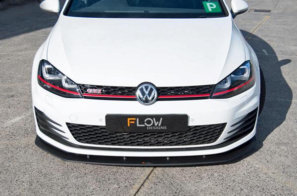 FLOW DESIGNS GOLF7 GTI フロントスプリッター