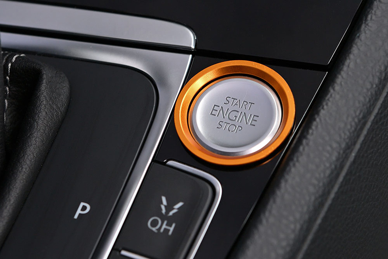 GOLF7系 エンジン スタートストップ ボタン リングトリム・ゴールド core OBJ select