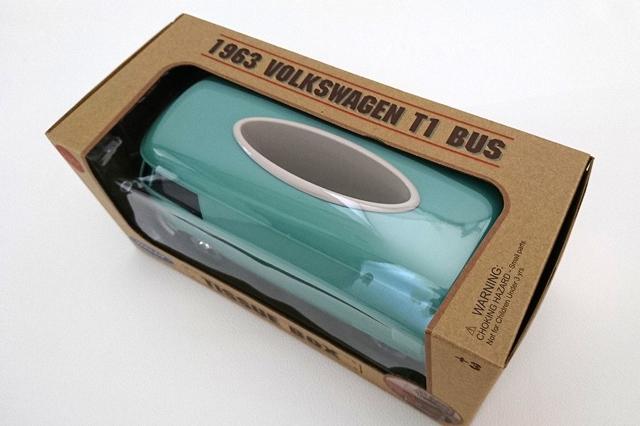 Volkswagen Type1 Bus ティッシュボックス PLUS ・グリーン (WELLY社製)