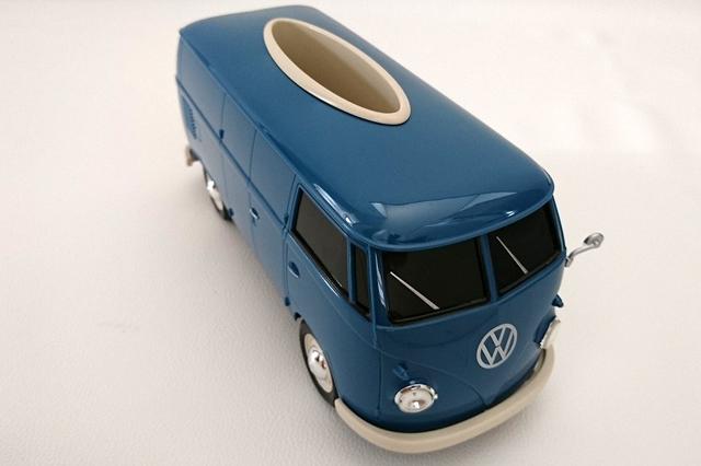 Volkswagen Type1 Bus ティッシュボックス PLUS ・ブルー (WELLY社製)