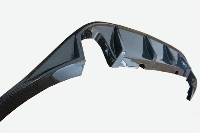 【TP-EURO】 GOLF7 GTI リアルカーボン リアディフューザー