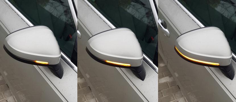 Audi A4/A5(B9) シーケンシャル ミラーウィンカー・ハーフスモーク