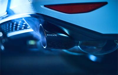 COX GOLF7 GTI ステンレスマフラー・ポリッシュテール
