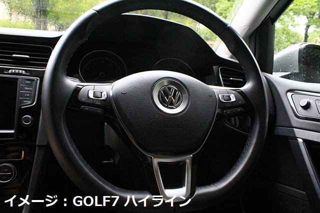 VW ゴルフ7/ポロ ステアリング エンブレムベゼル