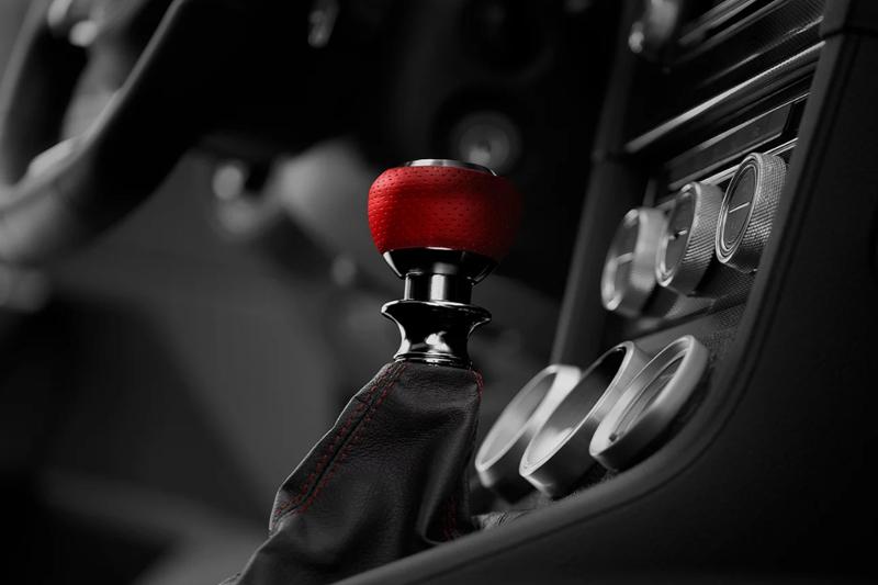 Leyo Motorsport ナッパレザー・レッド/アルミビレット DSGシフトノブ GOLF7/PASSAT/POLO
