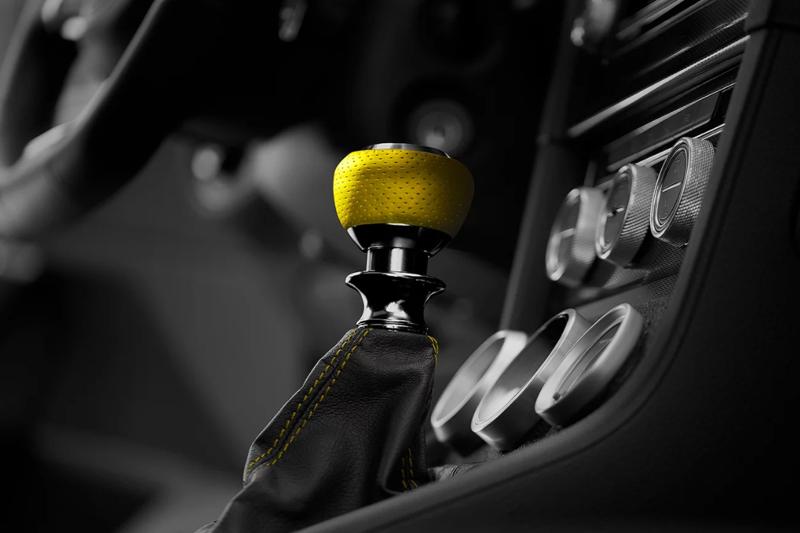 Leyo Motorsport ナッパレザー・イエロー/アルミビレット DSGシフトノブ GOLF7/PASSAT/POLO