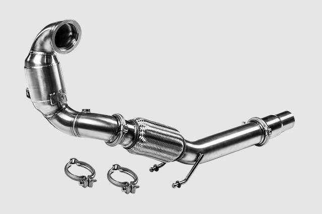 VW GOLF7 / 7.5 GTI  メタキャタ付き ダウンパイプ Leyo Motorsport