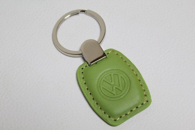 US VW レザーキータグ・グリーン