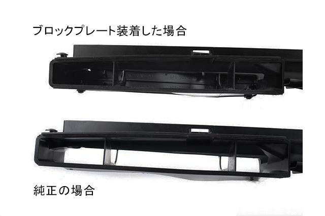 GOLF7/Audi A3 エアインレットダクト ブロックプレート