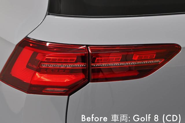 VW GOLF8 テールランプ ウインカー スモークフィルム