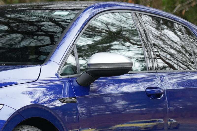 VW GOLF8 アルミ調 ミラーカバー ゴルフ8