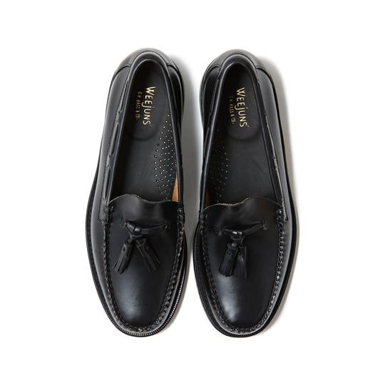 11015H LARKIN / BLACK (LEATHER SOLE)