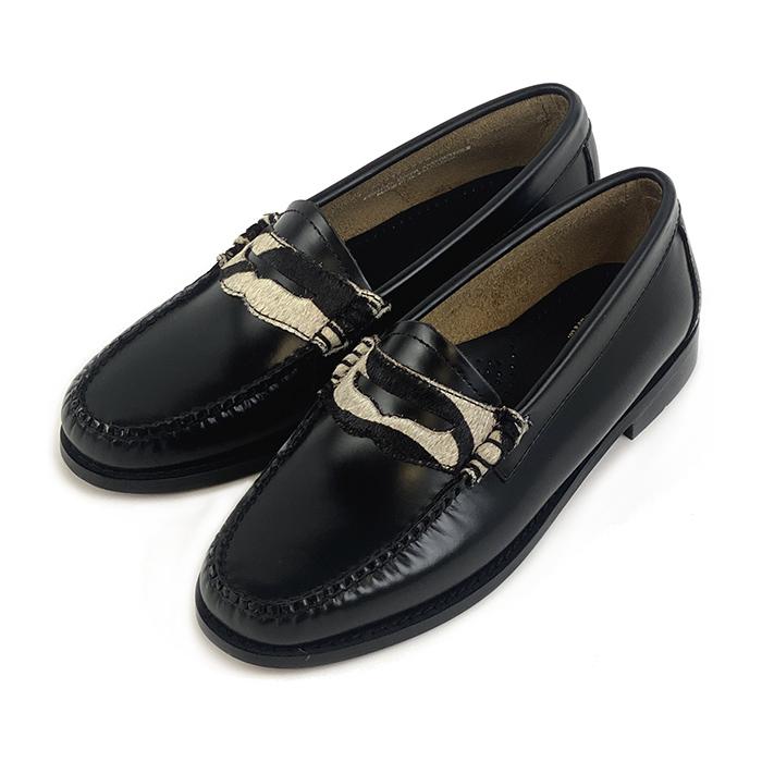 41090 / BLACK & WHITE (LEATHER SOLE)