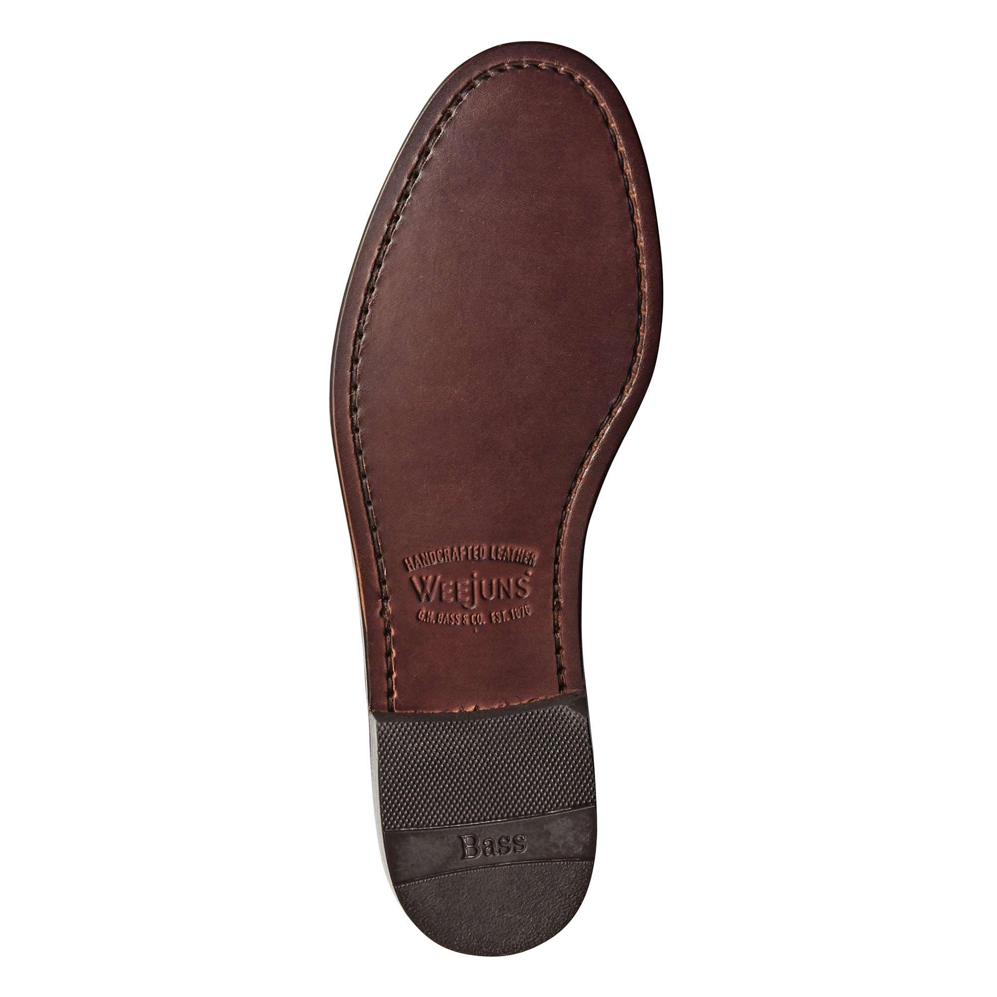 11010 LARSON / MID BROWN (LEATHER SOLE)