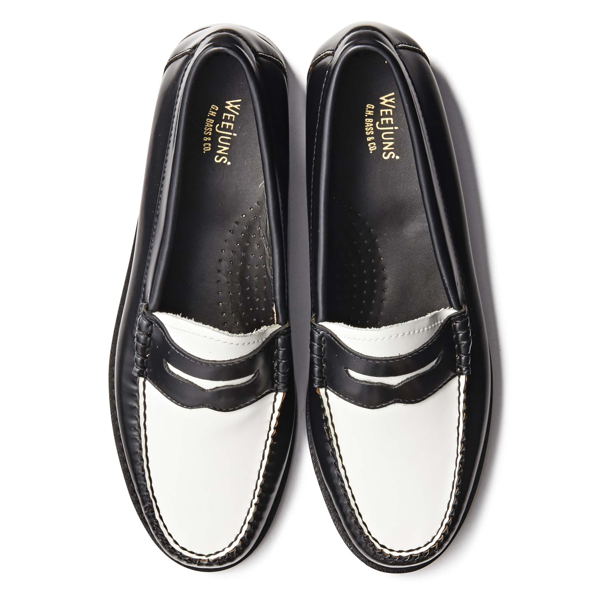 41010 / BLACK & WHITE (LEATHER SOLE)