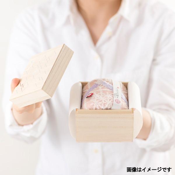 今治謹製 千歳はんかち 木箱入り タオルハンカチ1枚 HK1017 ピンク(今治製)