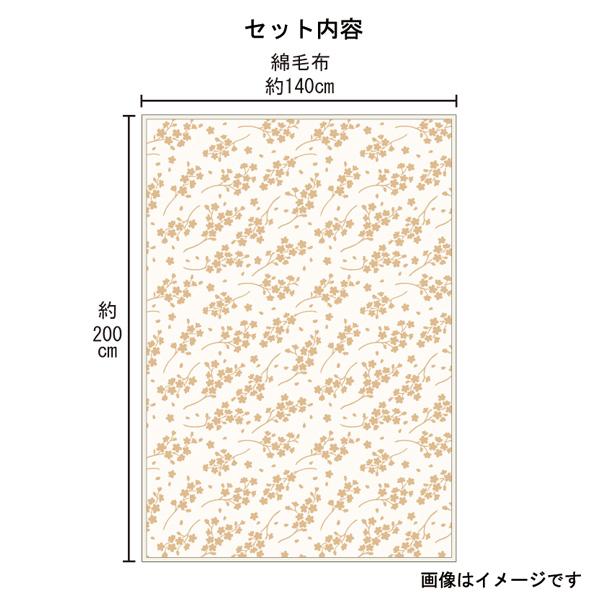 木綿本舗 泉州木綿 木箱入り 大阪泉州産綿毛布1枚 MH30125(泉州製)