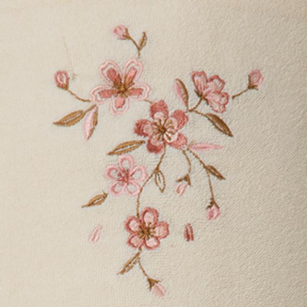 王華 木箱入さくら刺繍肌布団2枚セット OK1712 (中国製)