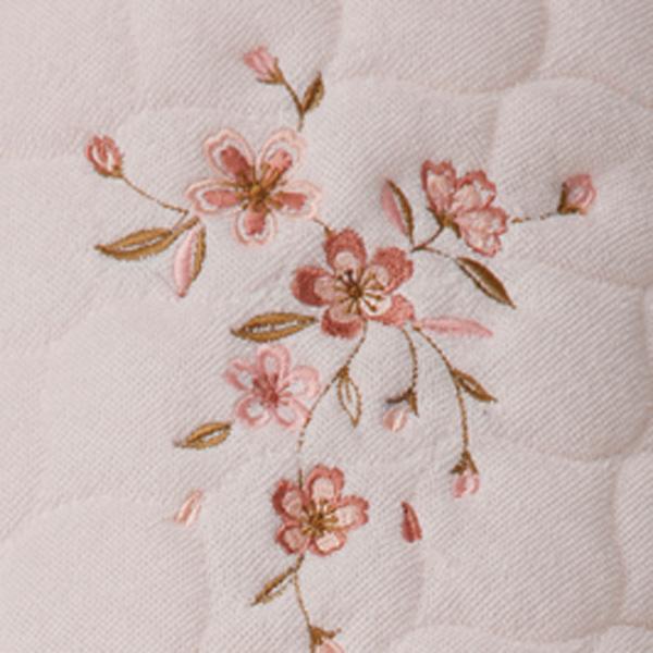 王華 木箱入さくら刺繍敷パット2枚セット OK1710 (中国製)