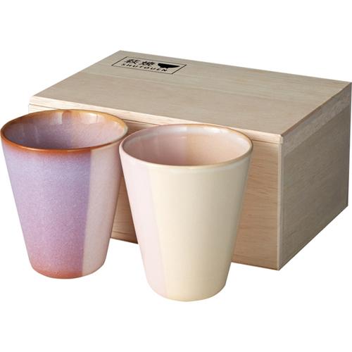 萩焼 Shikisai ペアカップ