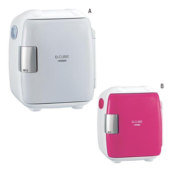 ツインバード 2電源式 コンパクト電子保冷保温ボックスD-CUBE S [B/ピンク]