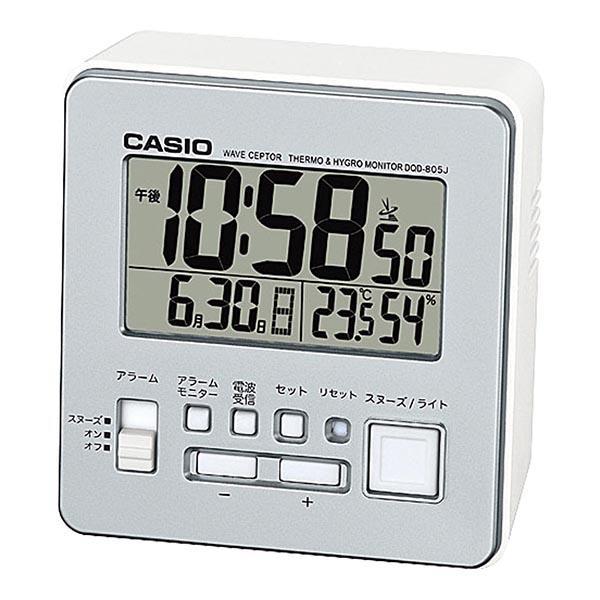 カシオ 温・湿度計付電波クロック