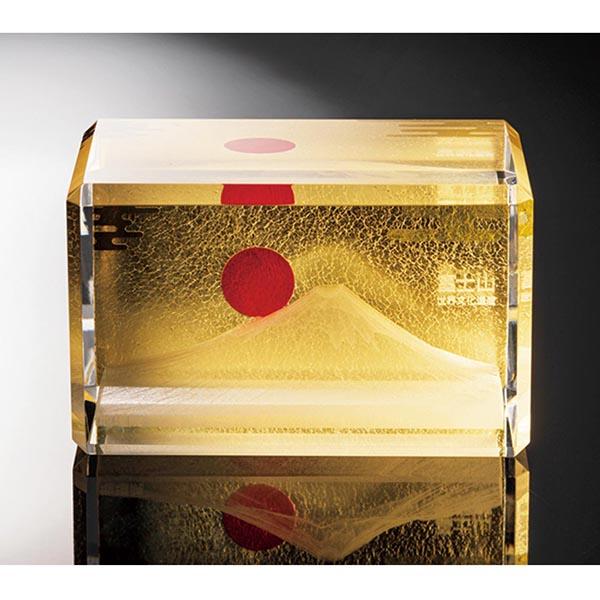純金箔3D富士山ペーパーウエイト