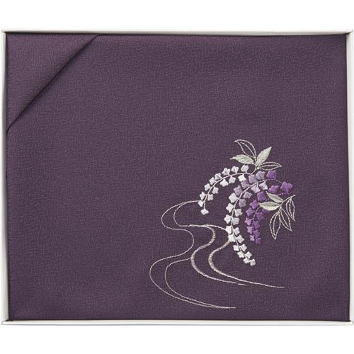 洛北 刺繍入り二巾風呂敷 [ 紫 ]