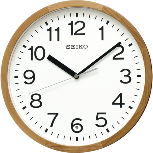 セイコー 木枠電波掛時計
