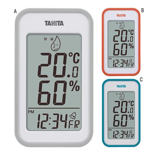 タニタ デジタル温湿度計 [A/グレー]