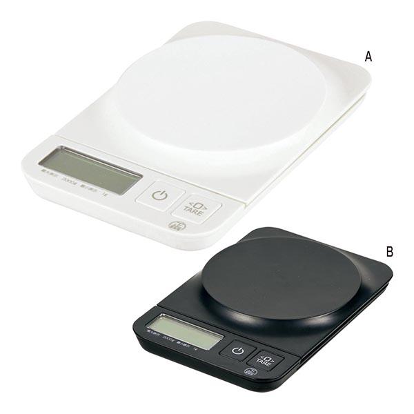 シンプルミー デジタルキッチンスケール2.0kg用 [A/ホワイト]