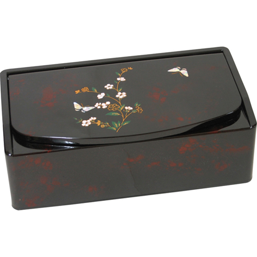 小花蝶 ティッシュボックス 鏡付