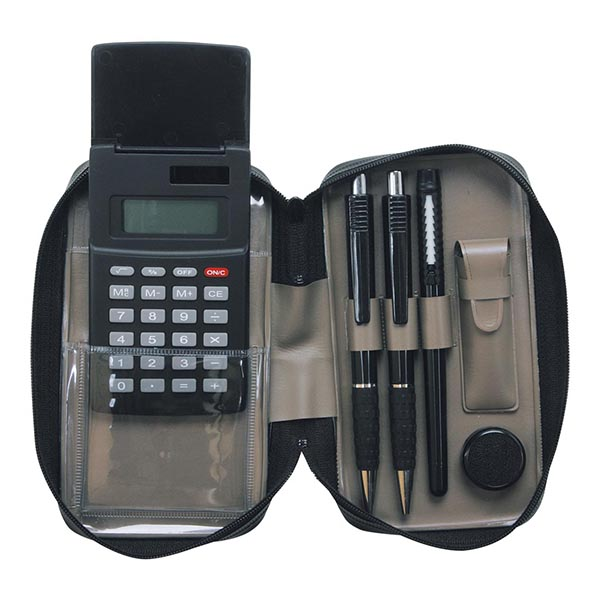 ブラック電卓付印章セット