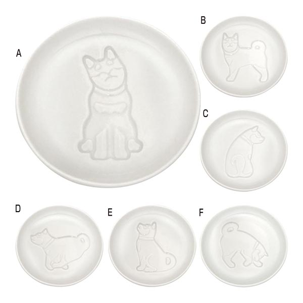 イヌ醤油皿 [A/すわる]