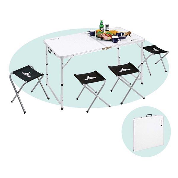 キャプテンスタッグ ラフォーレ テーブル・チェアセット(4人用)