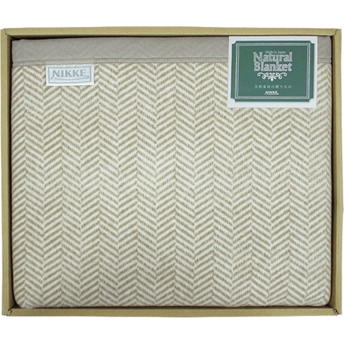 ニッケ Natural Blanket 洗える綿混ウール毛布(毛羽部分)