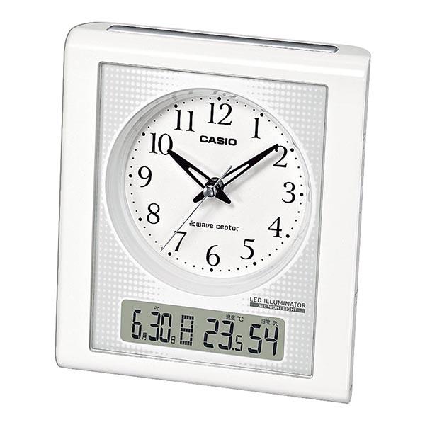 カシオ 温度・湿度計付電波クロック