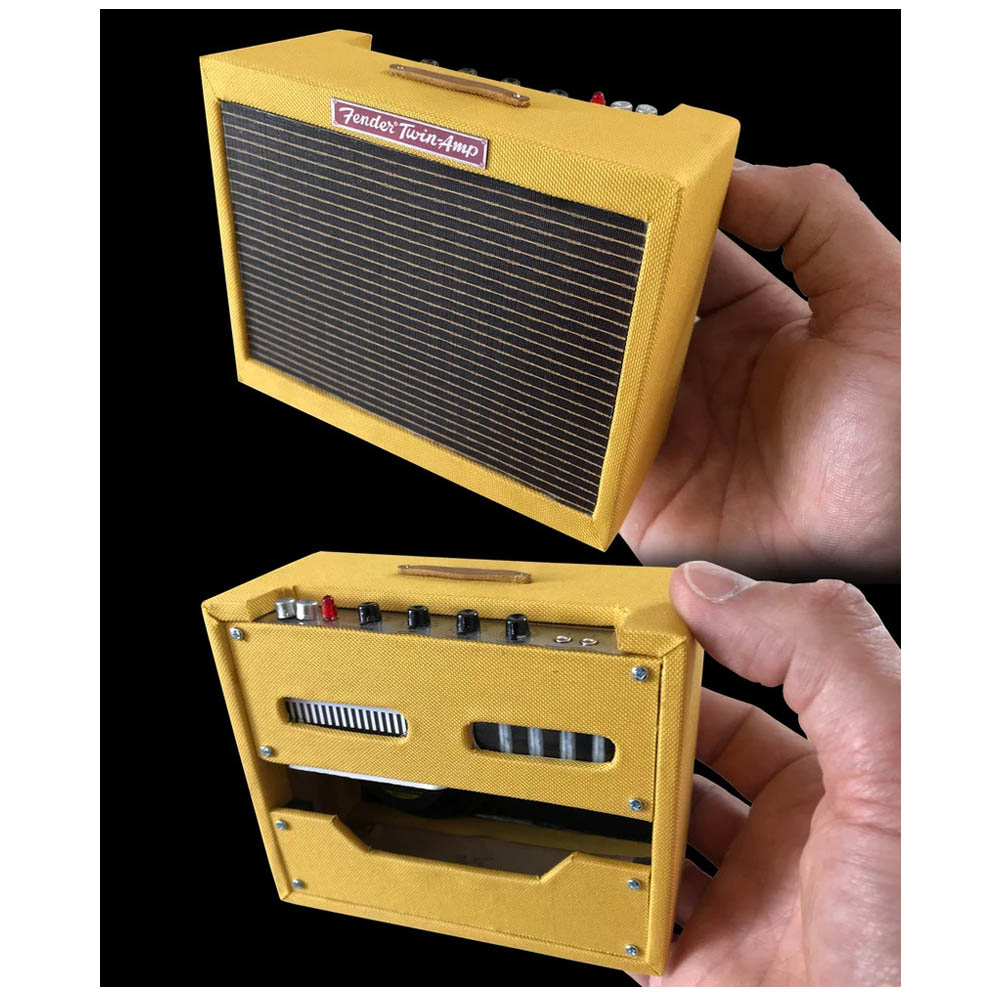 FENDER - (75th Anniversary ) - 1959 Tweed Twin Amp / Officially Licensed / ミニチュア楽器